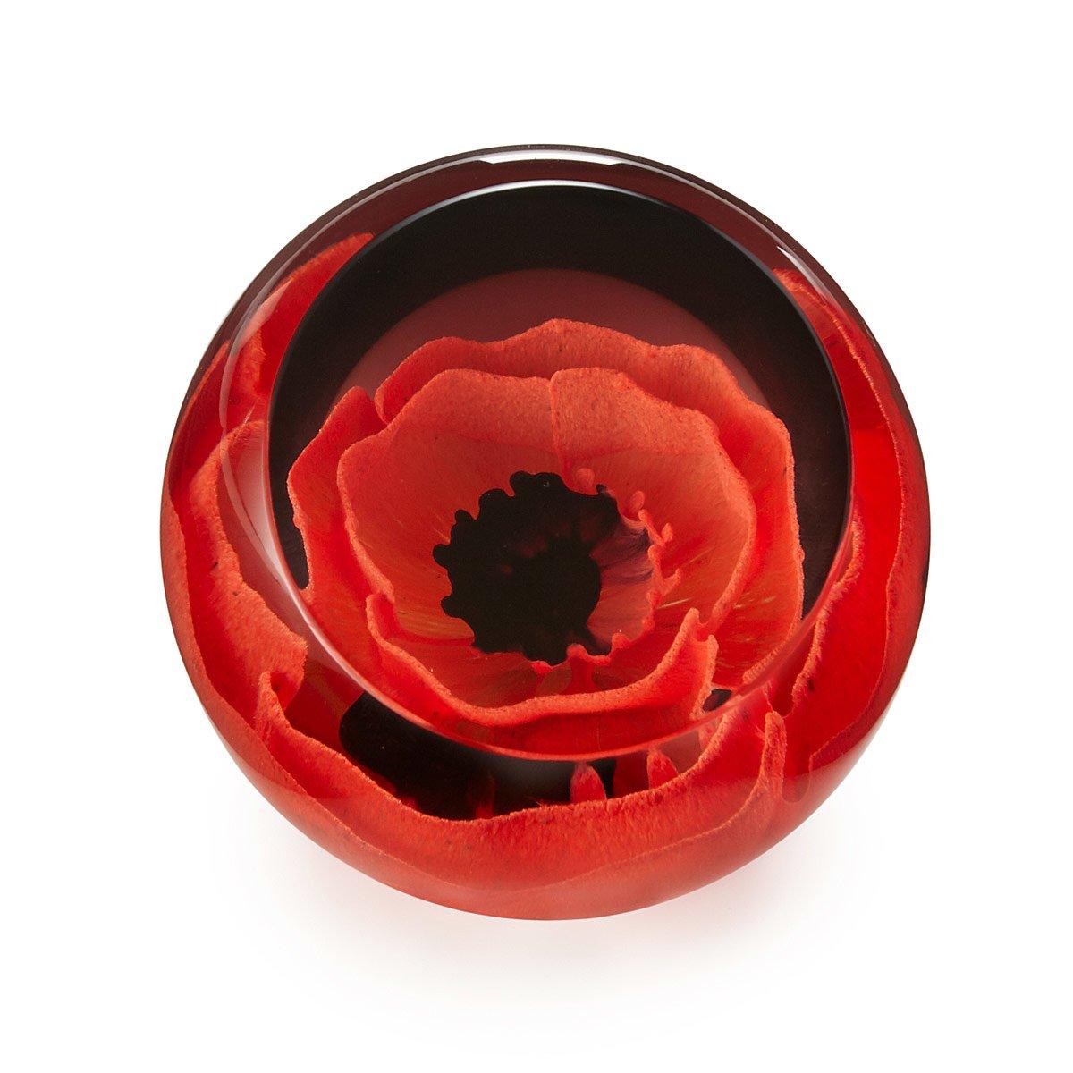 Poppy Paperweight Glass Flowers World War 1 Uncommongoods