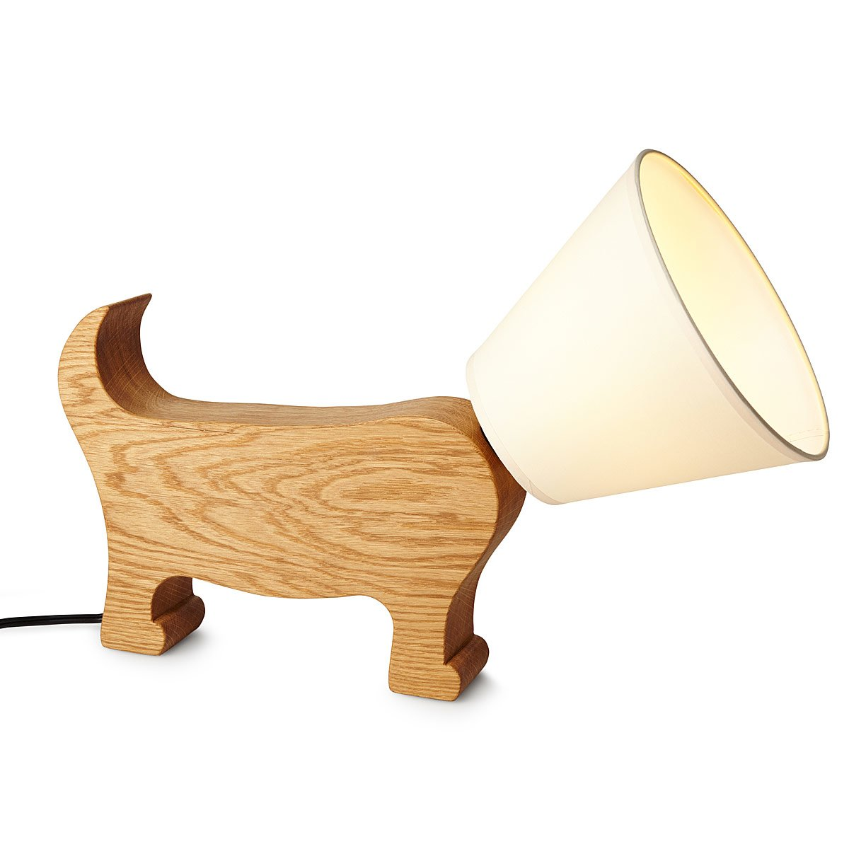 design luminose stand buy table lamp your exclusively shop dog wooden natur red here create