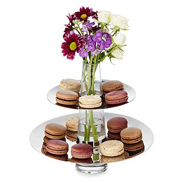 Two Tiered Serving Tray Vase