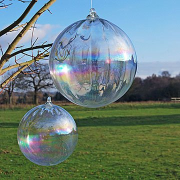 Recycled Glass Rainbow Bubble