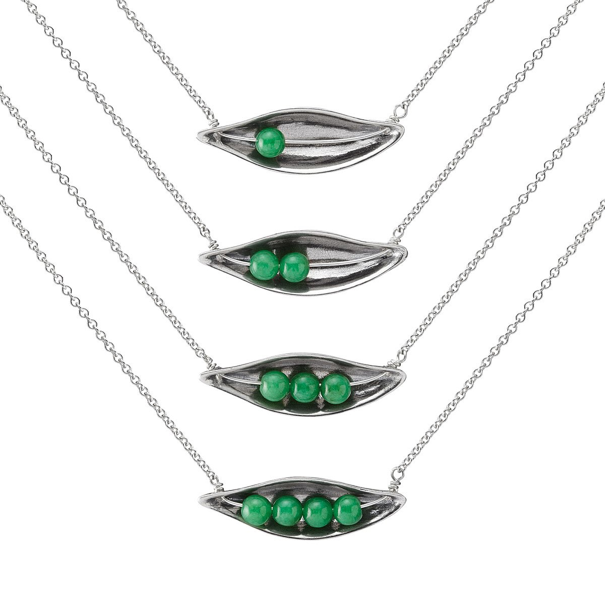 peas in a pod necklace peas in a pod necklace uncommongoods