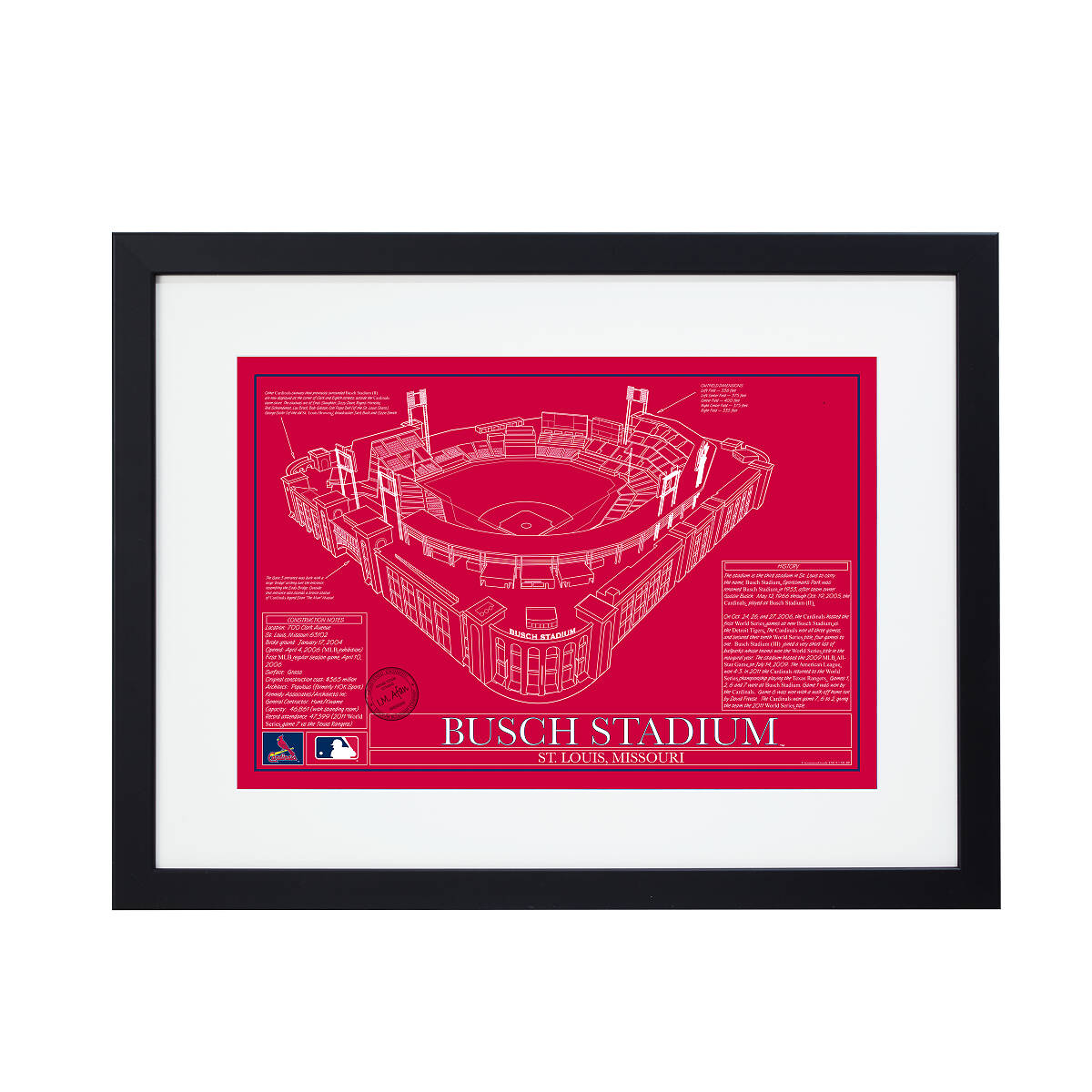 Baseball stadium blueprints team colors sport lover gifts baseball stadium blueprints team colors 4 thumbnail malvernweather Choice Image