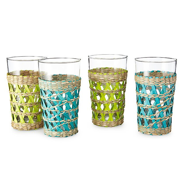 Woven Sea Grass Glasses - Set of 4