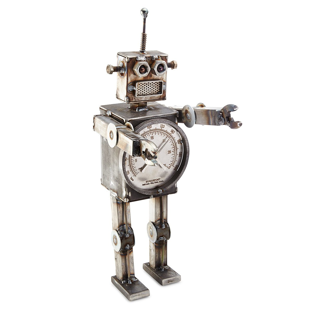 Retro Robot Sculpture | Metal Art, Steampunk | UncommonGoods