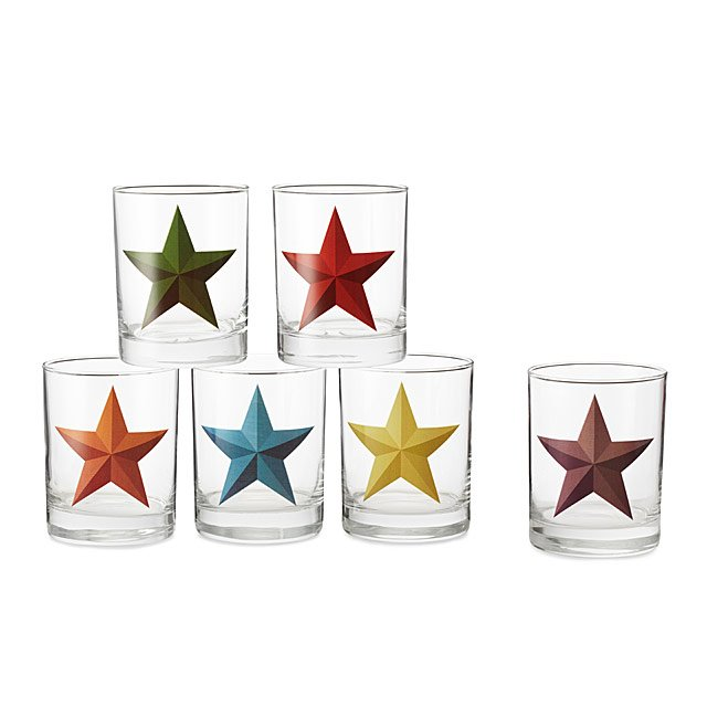 Barn Star Glasses - Set of 6