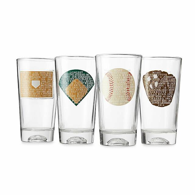 Record-Breaking Baseball Glasses - Set of 4