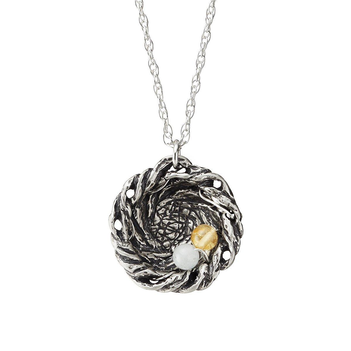Jeweled nest necklaces mother necklace uncommongoods jeweled nest necklaces 1 thumbnail aloadofball Choice Image