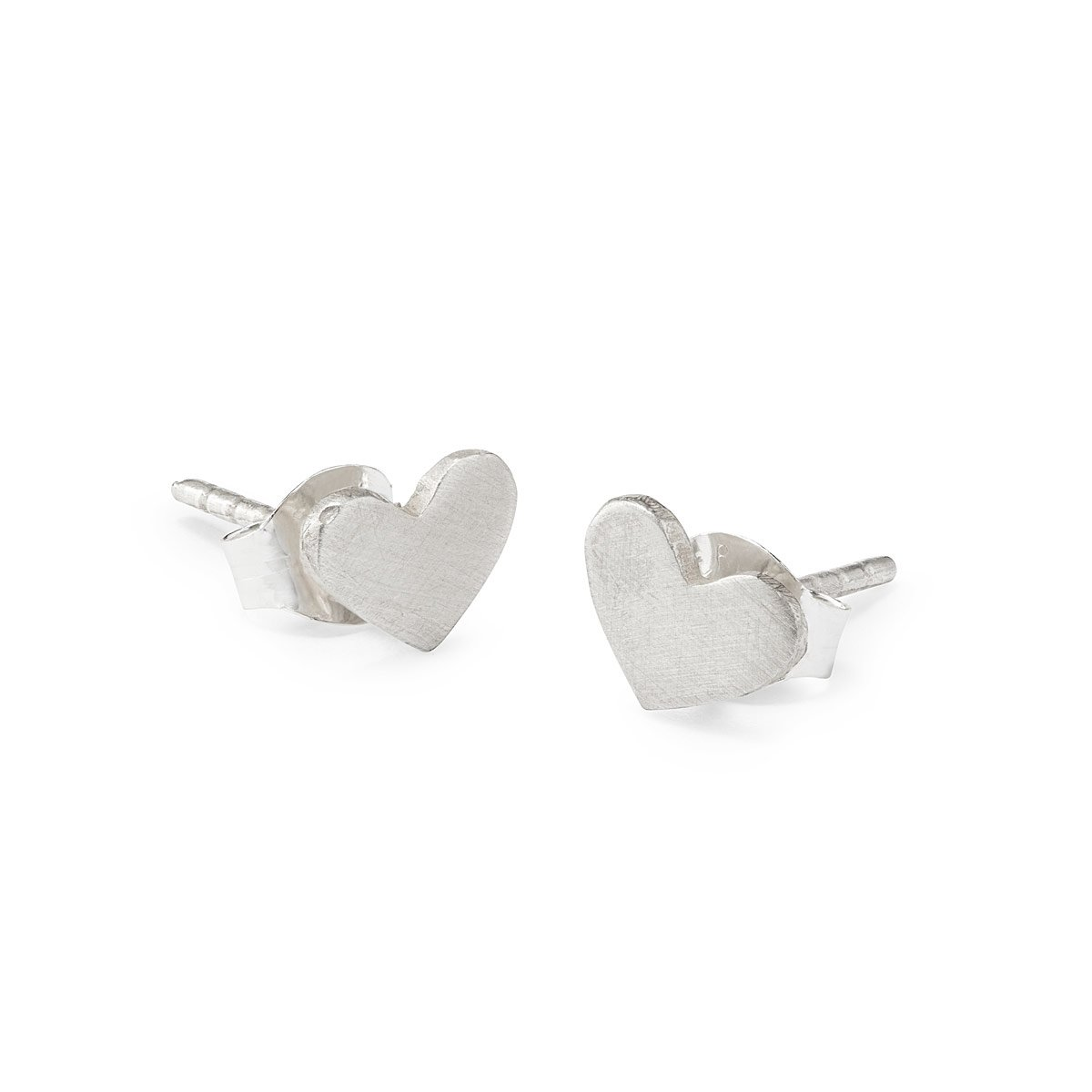 Sterling Silver Heart Earrings Studs Uncommongoods