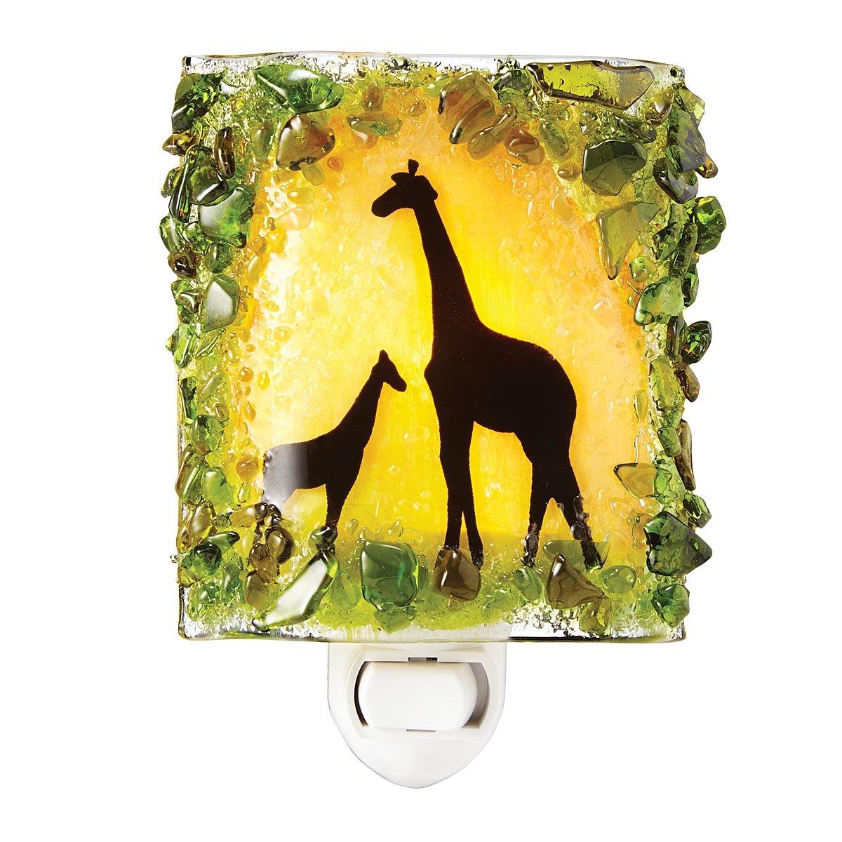 Recycled Glass Giraffes Nightlight