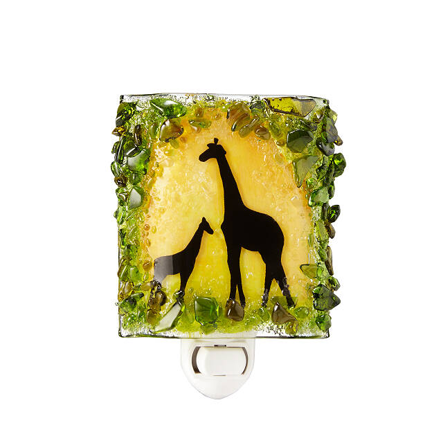 Recycled Glass Giraffes Nightlight