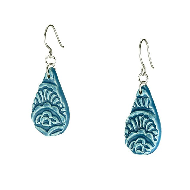 Teal Teardrop Earrings