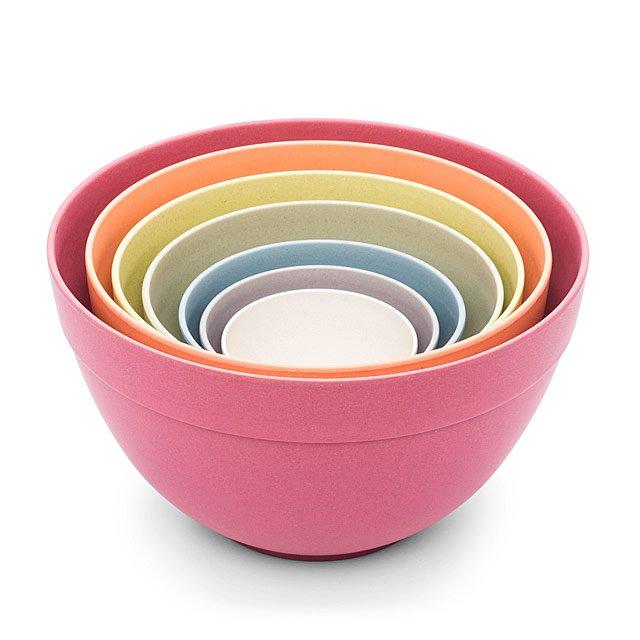 Pastel Bamboo Nesting Bowls