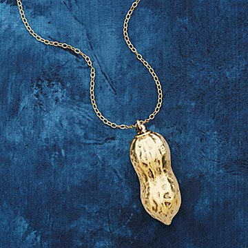 Dipped Peanut Foodie Necklace