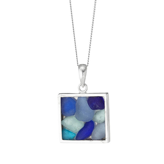 Sea Glass Mosaic Necklace