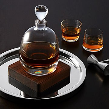 Whiskey Warming Decanter with Base