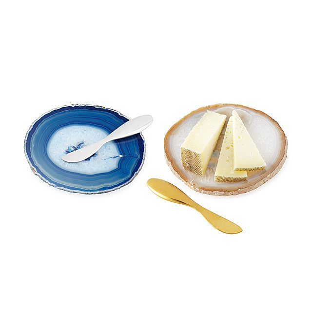 Agate Cheese Platter and Spreader