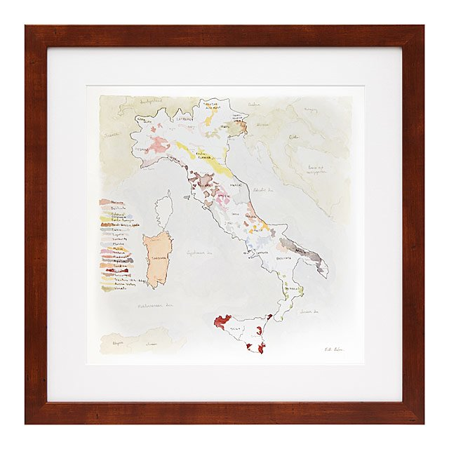 Wine Regions Italy Map.Wine Regions Of Italy Print Italian Wine Europe Map Uncommongoods