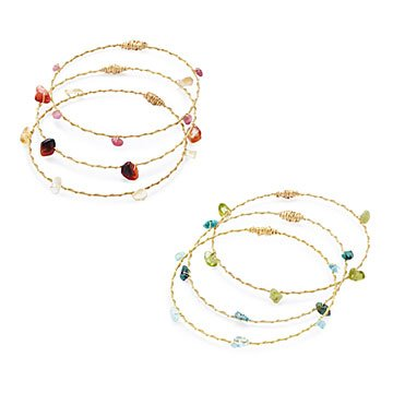 Reclaimed Guitar String Gemstone Bangles