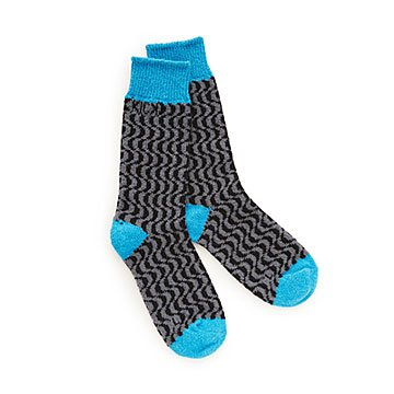 Geometric Cobalt Zero Waste Socks