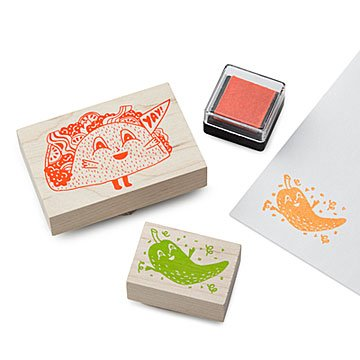 Taco & Hot Pepper Stamp Kit