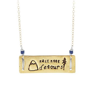 Make More Detours Necklace