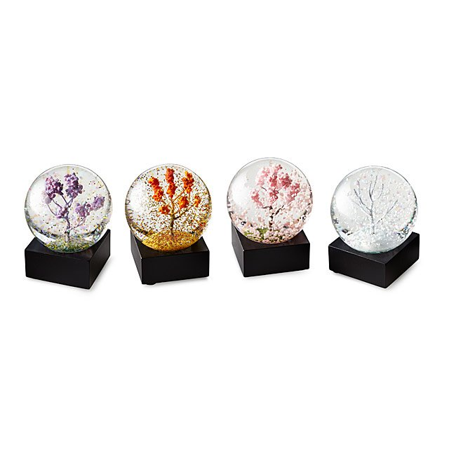 Four Seasons Mini Snow Globes
