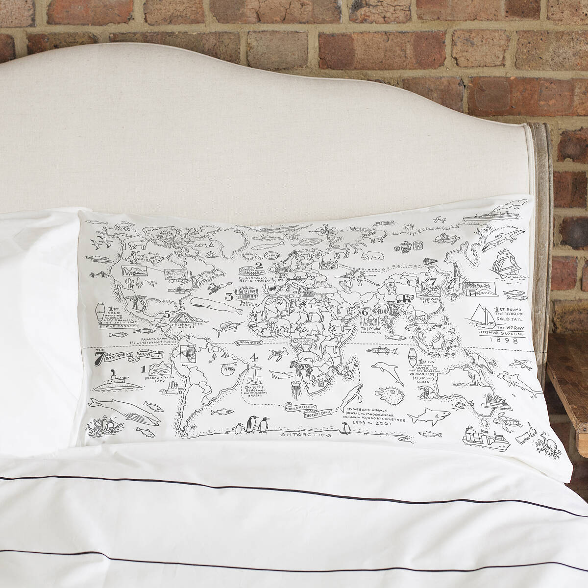 Color Your Own Map Pillowcase | Coloring for Kids | UncommonGoods