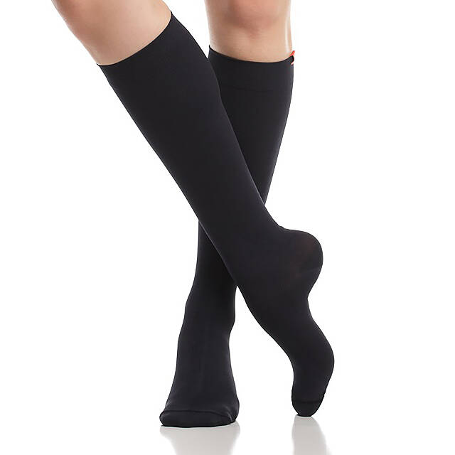 Queen's Floral Cotton Compression Socks