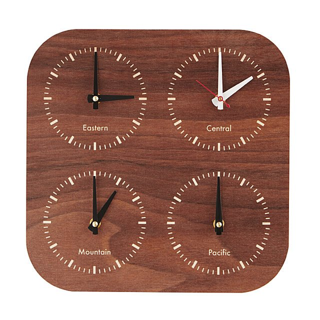 Near and far time zone clock us time zones clock uncommongoods near and far time zone clock publicscrutiny Image collections