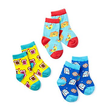 BFF (Best Foods Forever) Socks - Set of 3