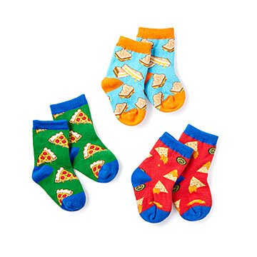 A Little Cheesy Socks - Set of 3