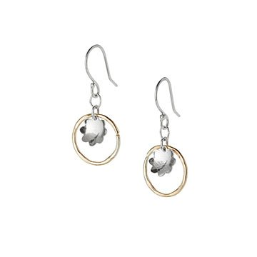 Mixed Metals Buttercup Earrings