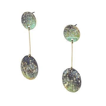 Hand Painted Drop Earrings