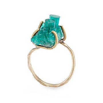Emerald Crystal Ring