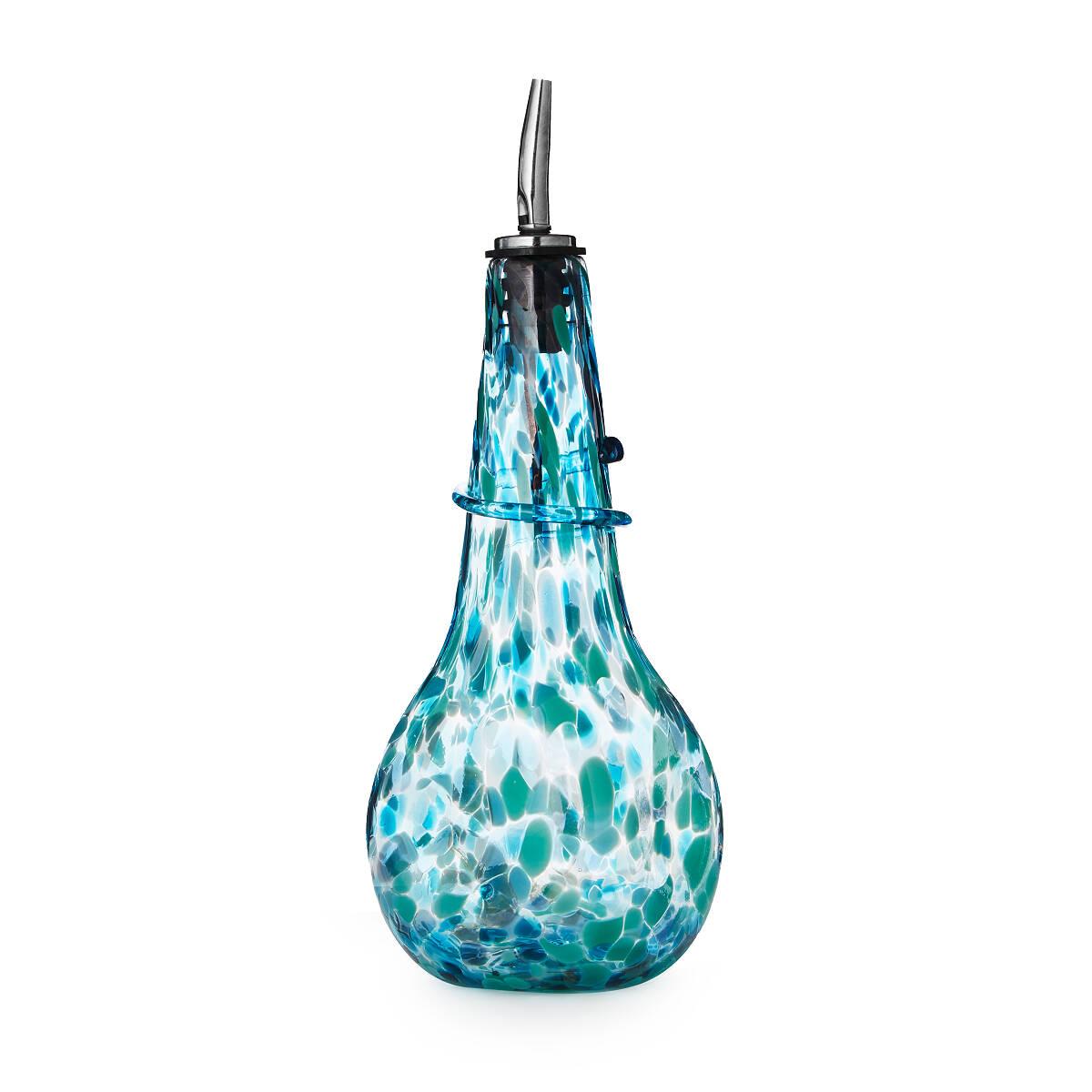 Speckled Glass Olive Oil Dispenser | Handmade Kitchen Tools; Glass ...