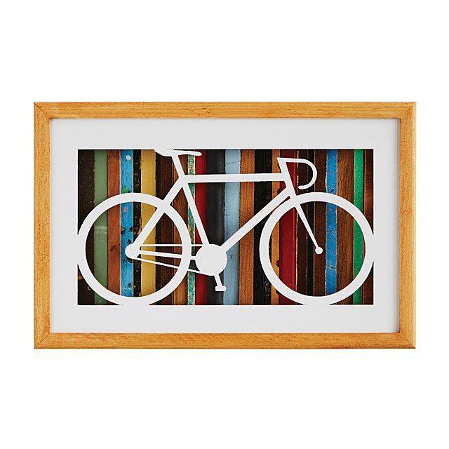 Reclaimed Wood Bike Silhouette Art