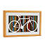 Reclaimed Wood Bike Silhouette Art 2 thumbnail