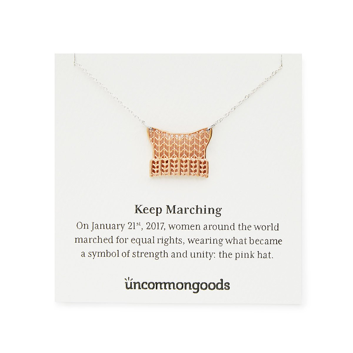 Keep marching necklace womens march pink hats uncommongoods keep marching necklace 1 thumbnail buycottarizona Image collections