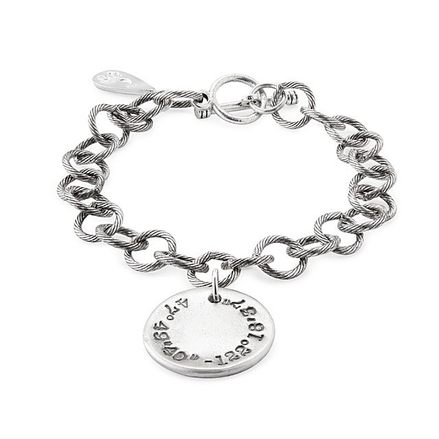 bracelet stamped coordinates alloy gps dp com amazon hammered rope longitude valentines custom personalized latitude
