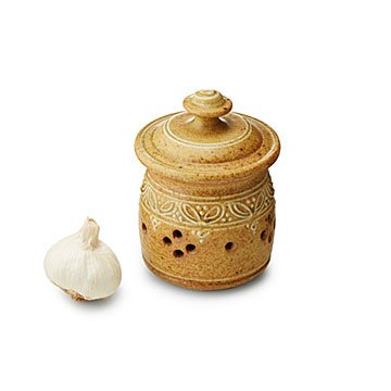 Stoneware Garlic Jar