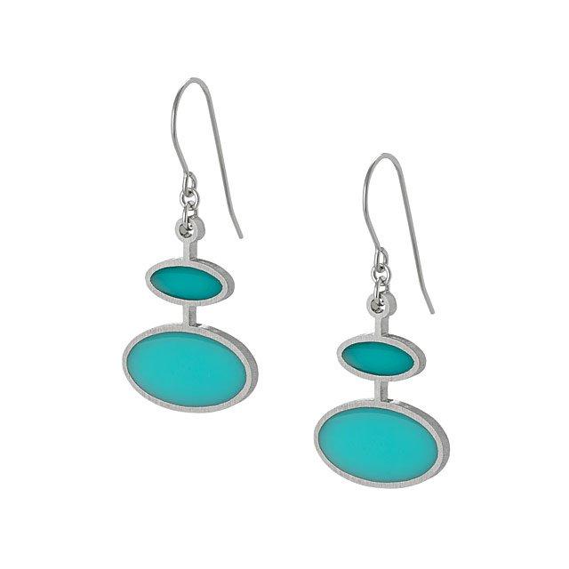 Bubble Drop Earrings | Stainless Steel Earrings, Epoxy Resin