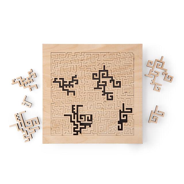 Wooden Aztec Fractal Puzzle Jigsaw Puzzles Aztec Art Uncommongoods