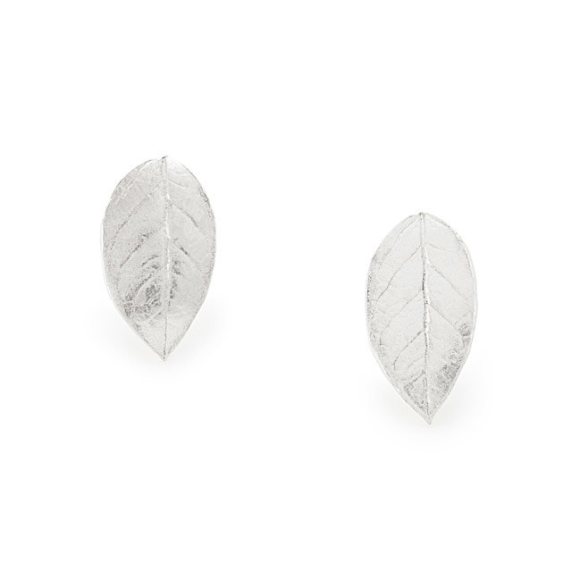 Falling Leaves Silver Earrings
