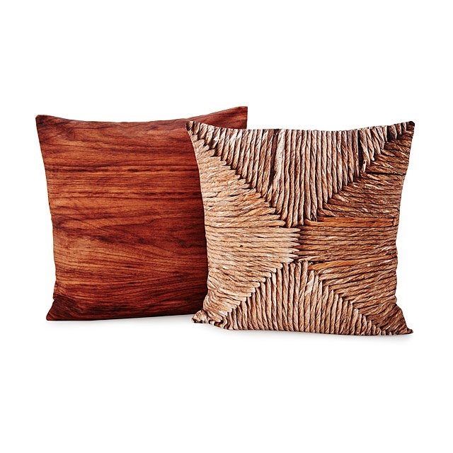 Wood & Wicker Printed Throw Pillows