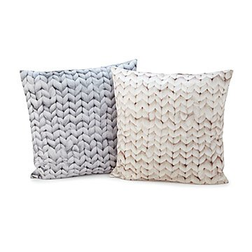 Chunky Knit Printed Throw Pillow