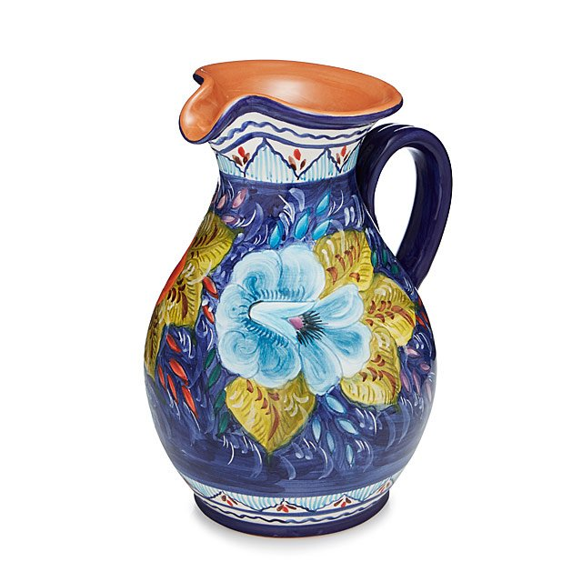 Terracotta Village Pitcher