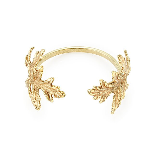 Gold Dipped Botanical Cuff Leaf Bracelet Gold Cuff Leaf Jewelry