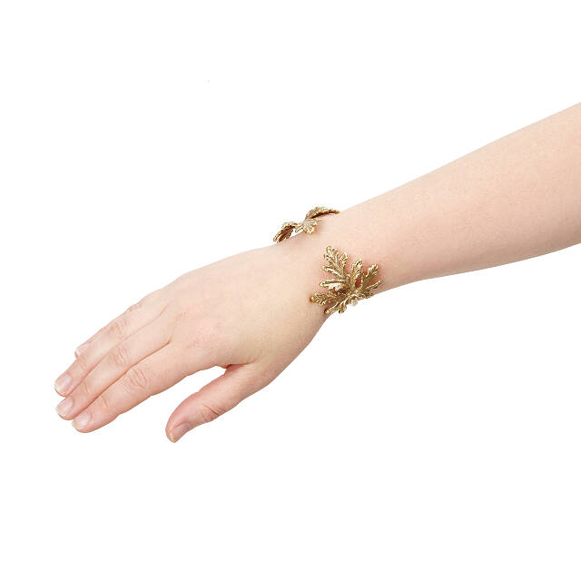 Gold Dipped Botanical Cuff