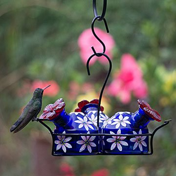 Painted Blossoms Hummingbird Feeder