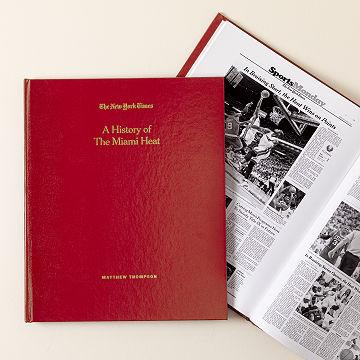 Customizable New York Times Custom Basketball Book